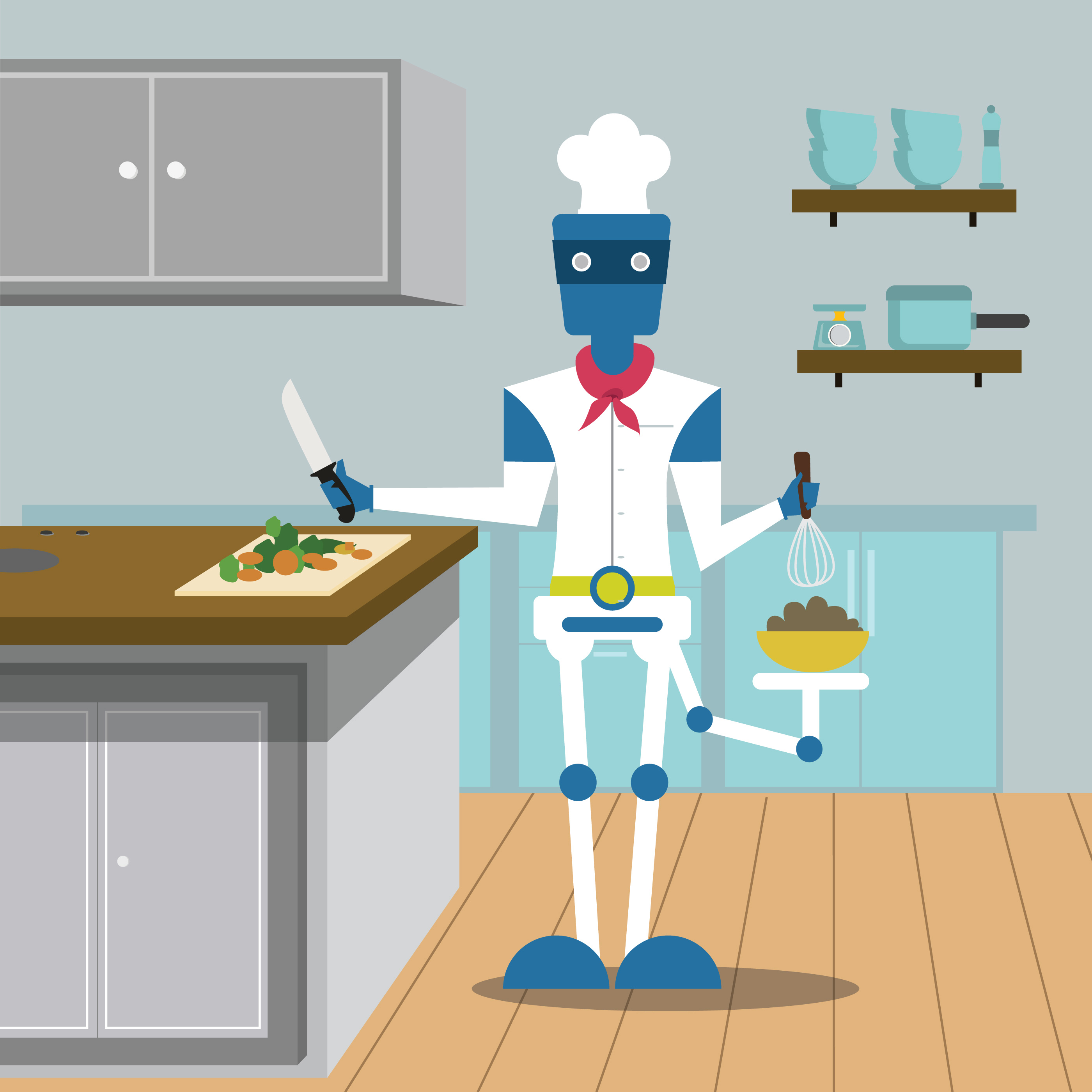 A Robot Chef - Download Free Vector Art, Stock Graphics & Images