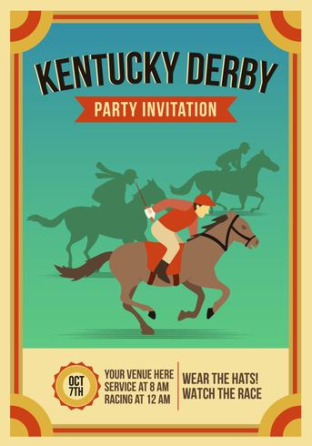 Vintage Kentucky Derby Party Invitation