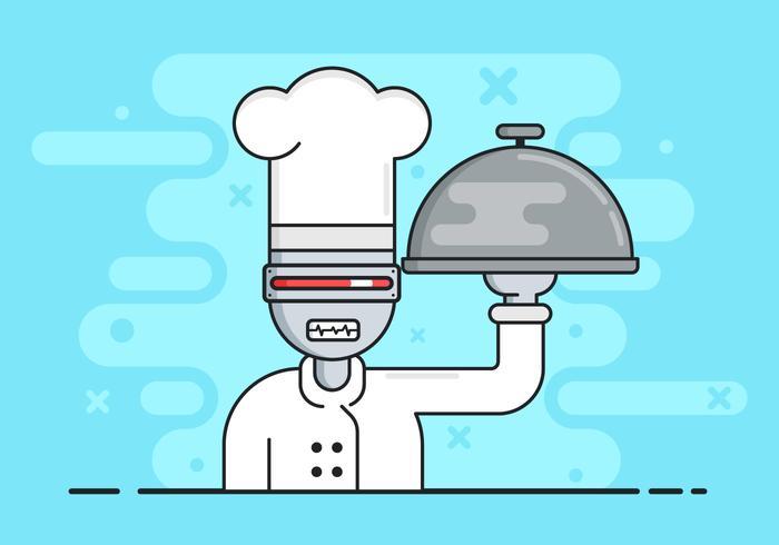 AI Cheff Robot Background Illustration