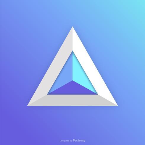 Progettazione astratta di Logo Logo dell'icona del prisma