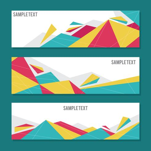 Simple & Elegant Geometric Banners