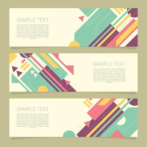 Elegante geometrische Banner