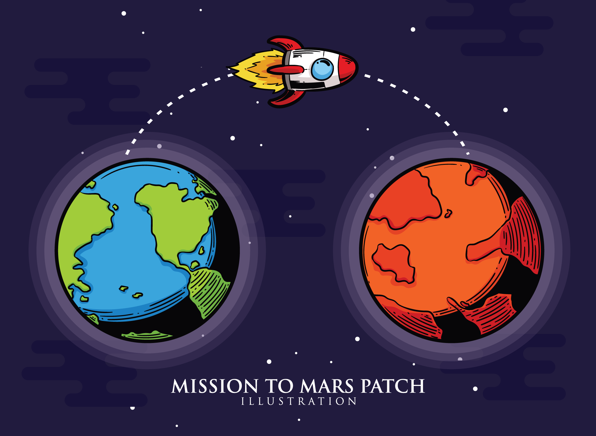 Mission To Mars Patch - Download Free Vector Art, Stock ...
