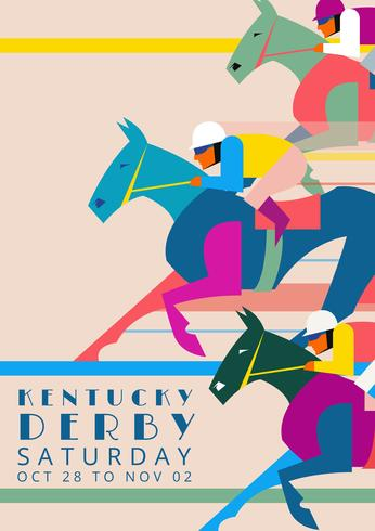 Kentucky Derby Party Einladung Illustration