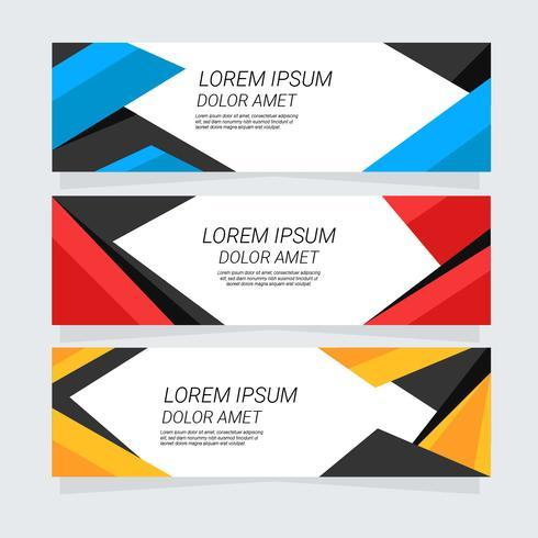 Geometrisk Banner Design