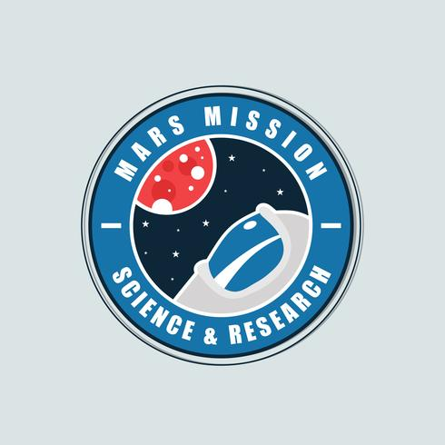 Mission vers Mars Patch Vector