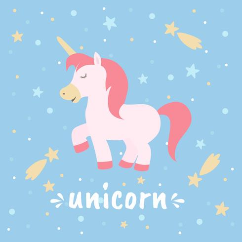 Illustration vectorielle de licorne
