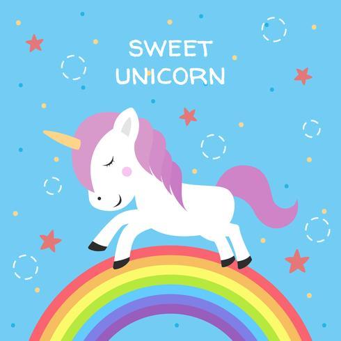Ilustración vectorial de unicornio vector