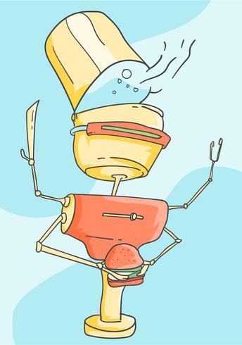 Futuristische Ai Chef-Vektoren
