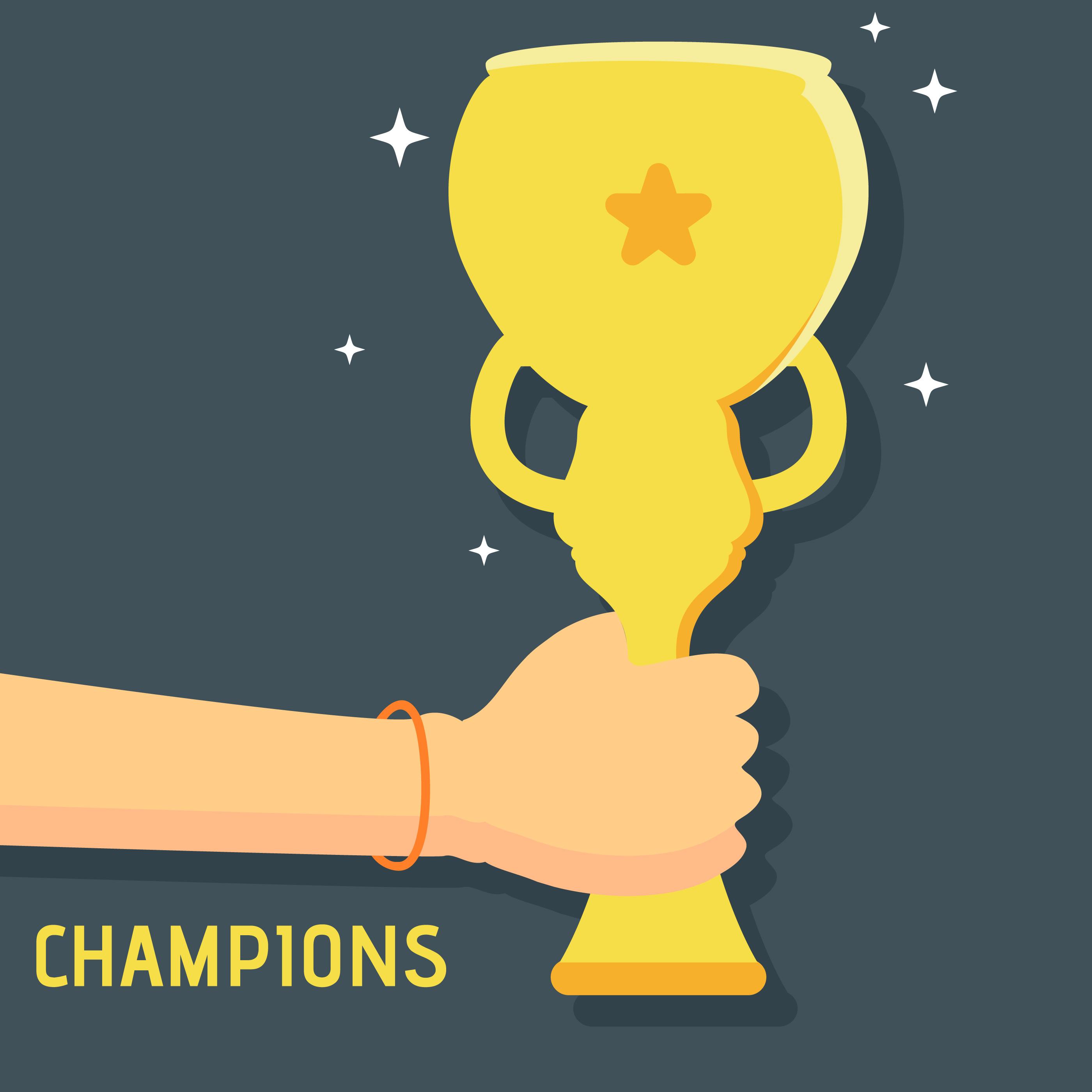 Champions League Vector: Champions Trophy Illustration