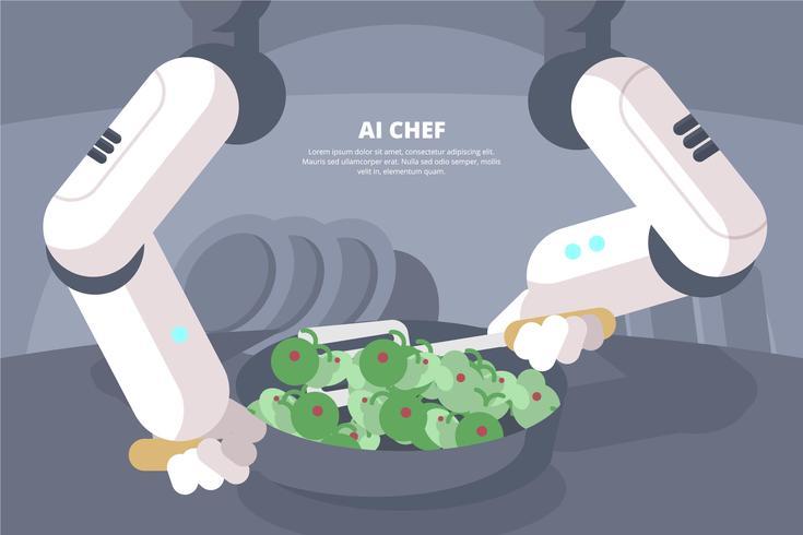 Ilustración de ai chef