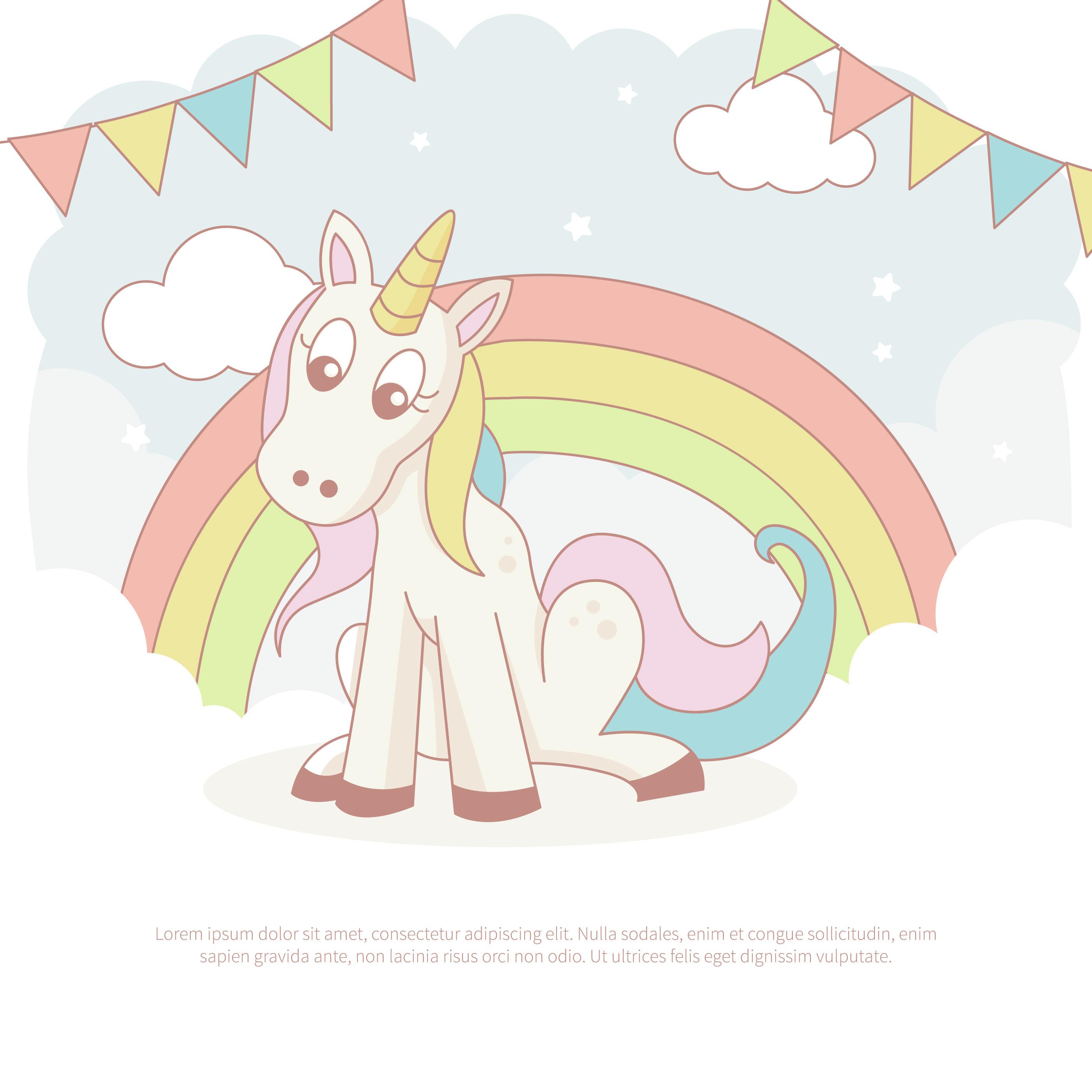 Cartoon Unicorn Vector - Download Free Vectors, Clipart ...