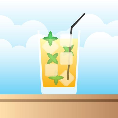 Cool Mint Julep Drinks Illustration vector