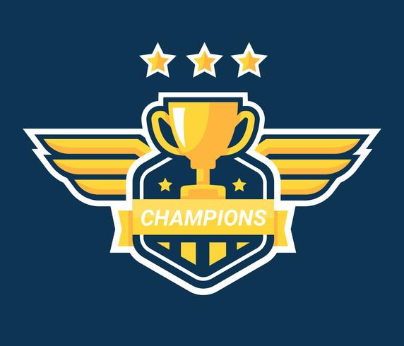 Champions-badge vector