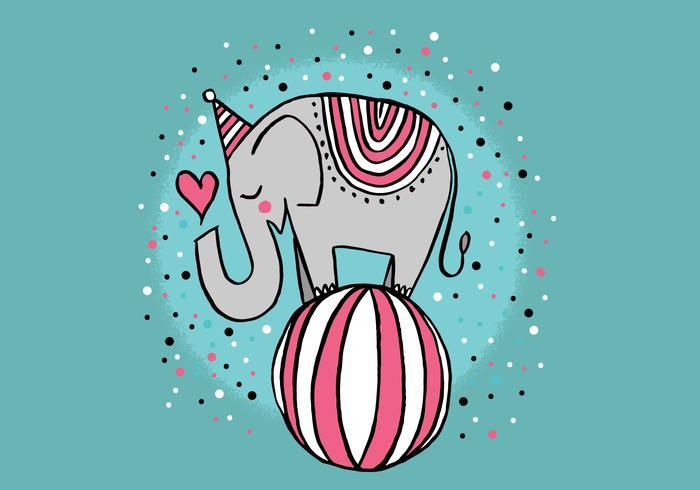 lindo elefante de circo