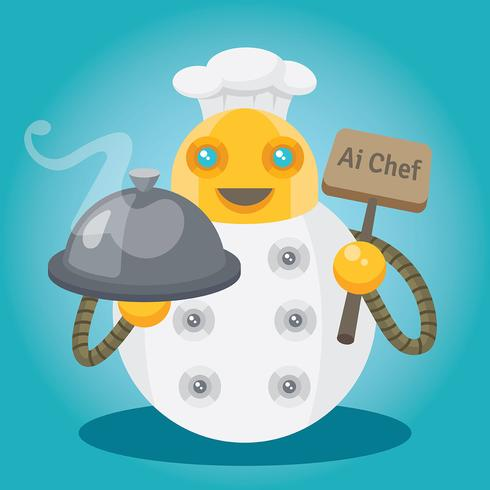 Ai Chef Illustration vector