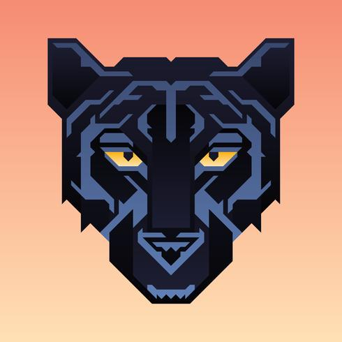 Black Panther Mascot Animal Character vector