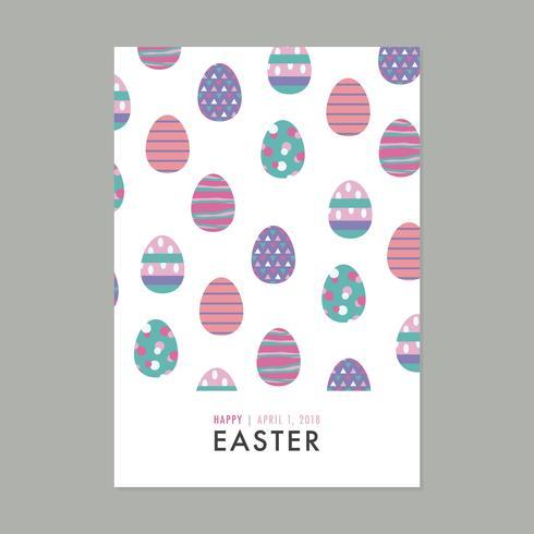 Scheda piena di uova di Pasqua