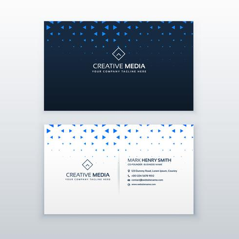 simple business card design with triangle shapes