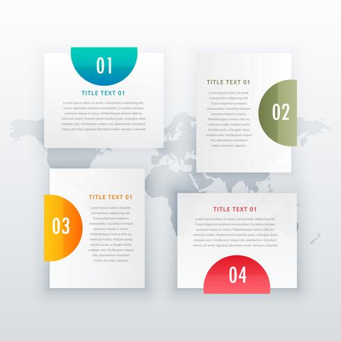 modern four steps white infograph layout design for business dia