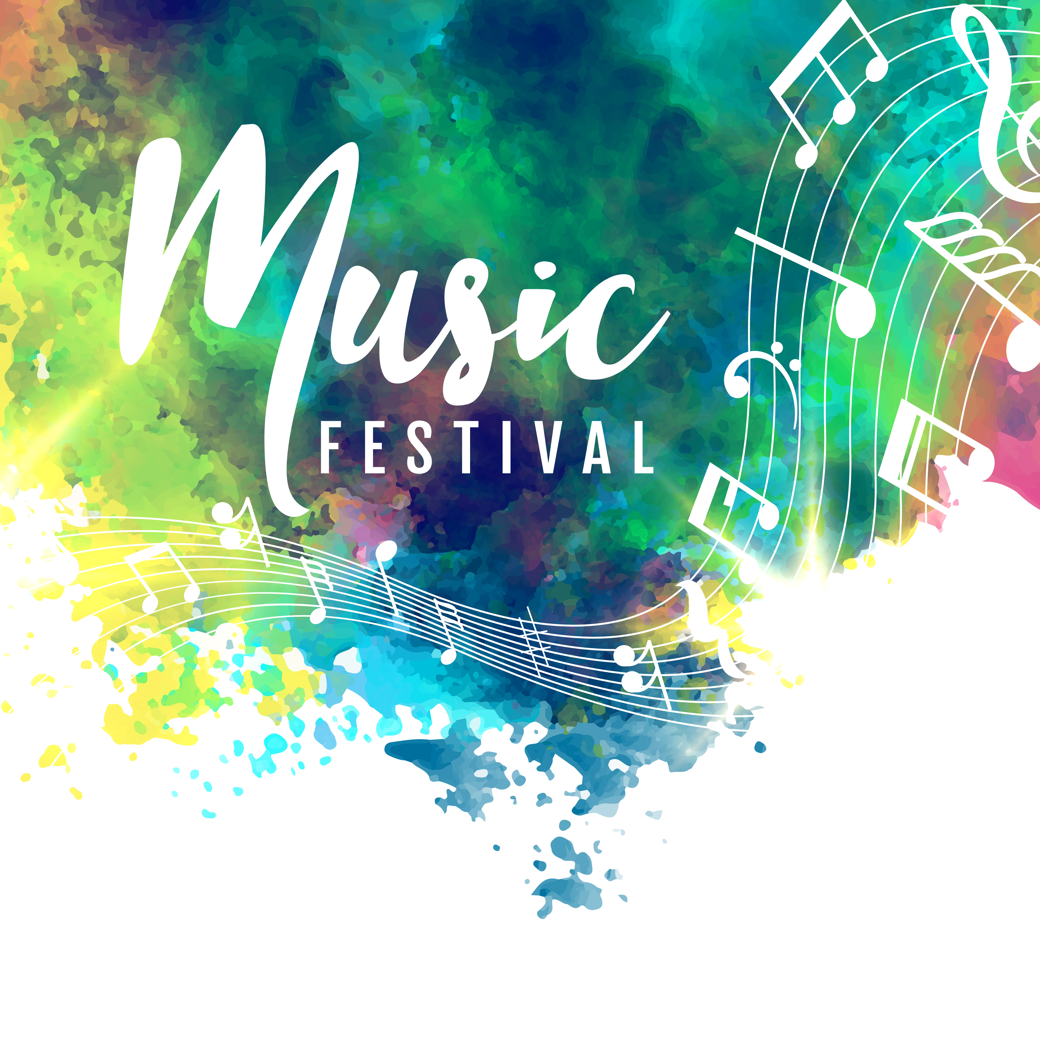 abstract colorful grunge style musical background ...