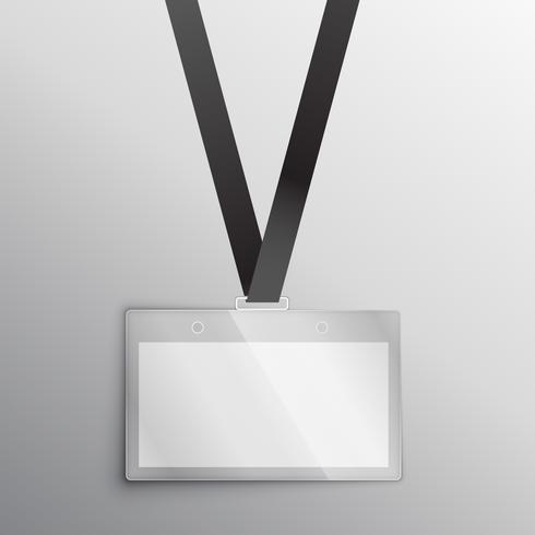 lanyard with badge, access card design mockup