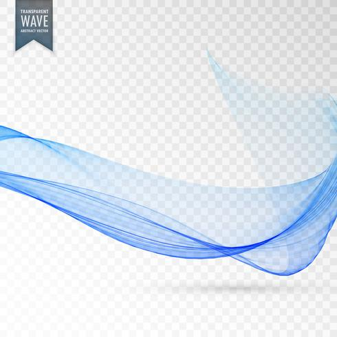smooth abstract wave blue transparent background
