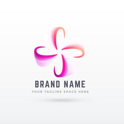 abstract logo design in flower style