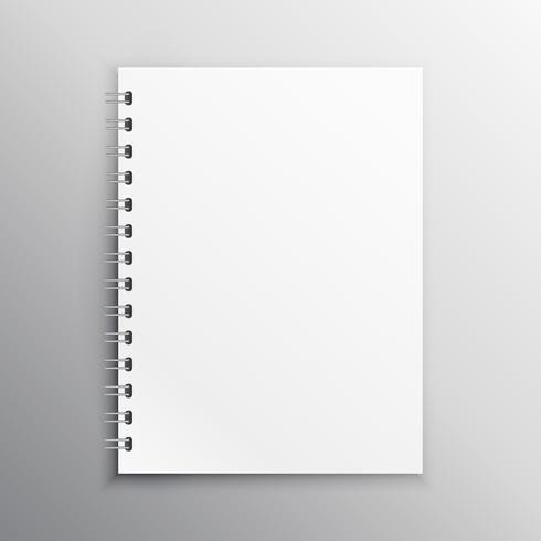 book or diary mockup brank template with spiral binding