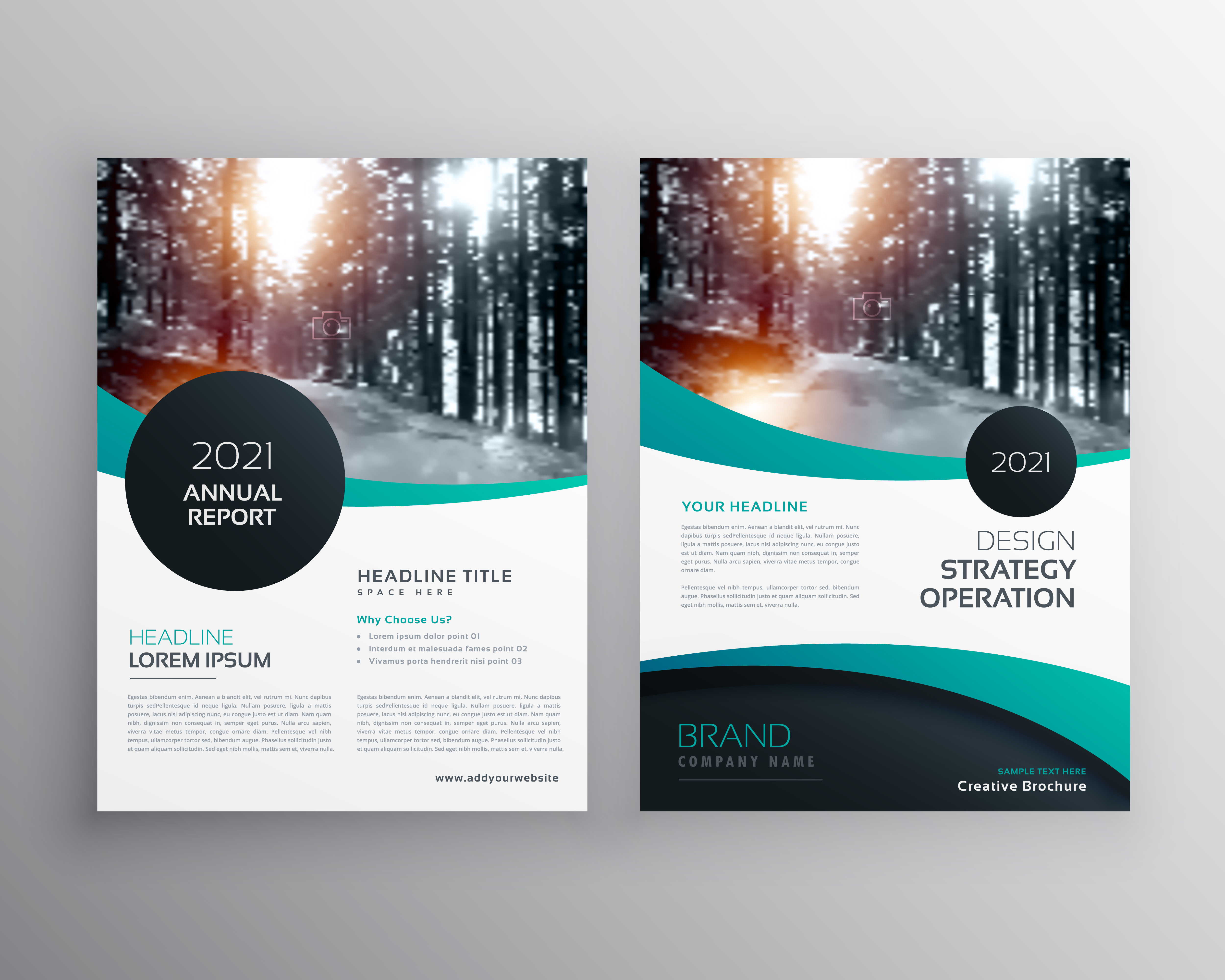 annual report brochure flyer design leaflet cover