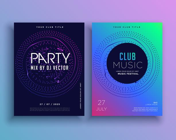 Music Club Party Flyer Vorlage Design Vektor