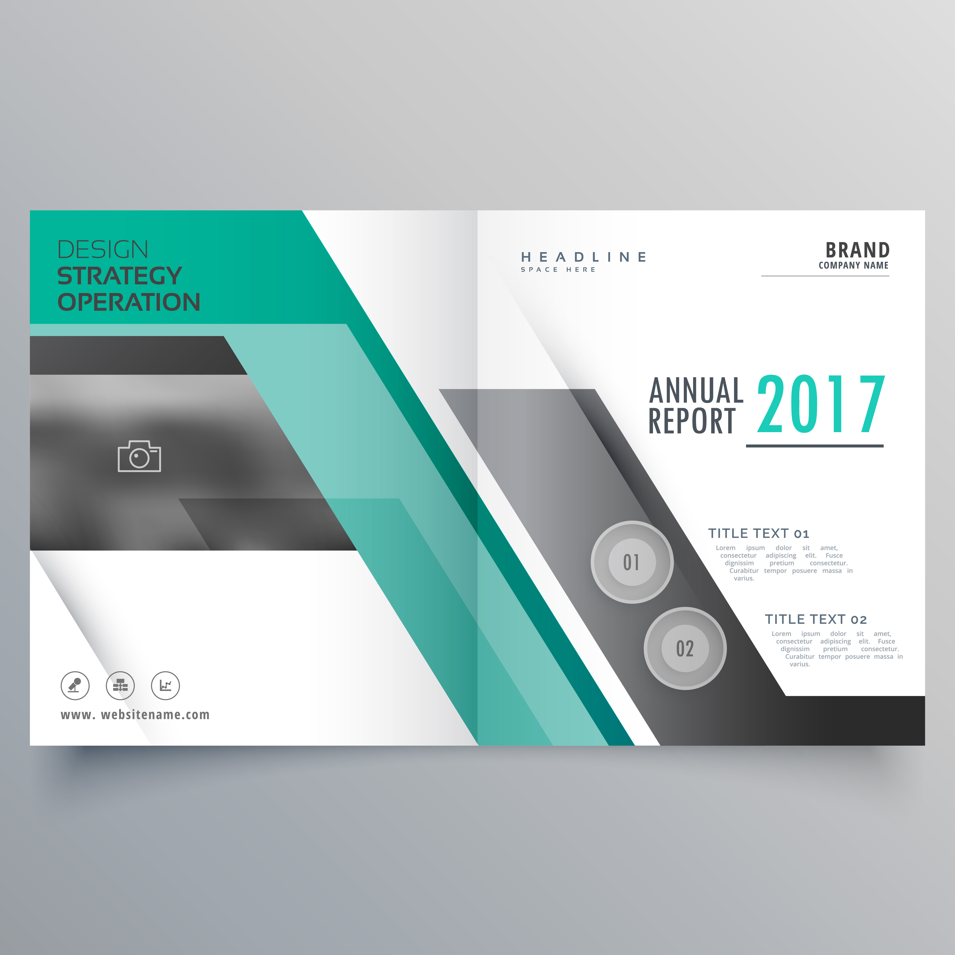 Stylish Bifold Magazine Business Brochure Design For Your