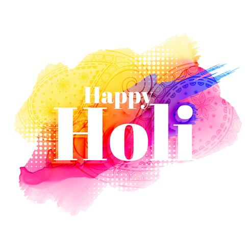 happy holi greeting background design