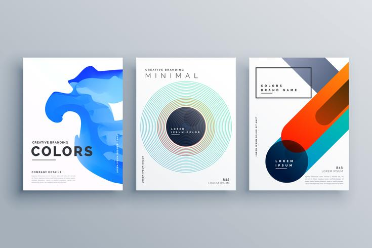 progettazione del modello vettoriale astratta brochure business creativo