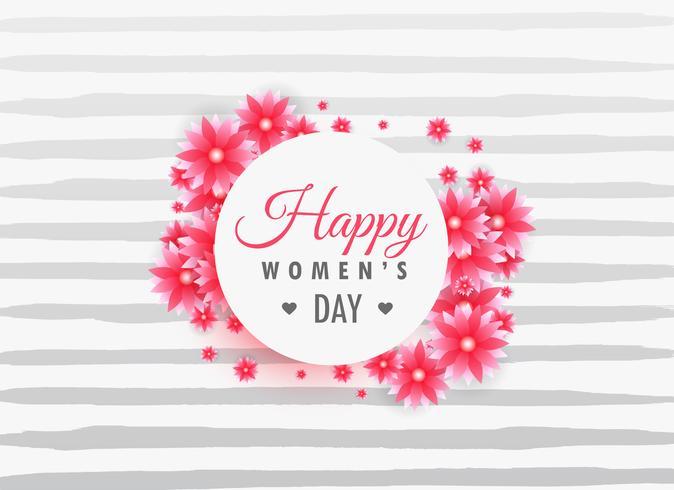 jour de la femme 8 mars inscription sur de belles fleurs