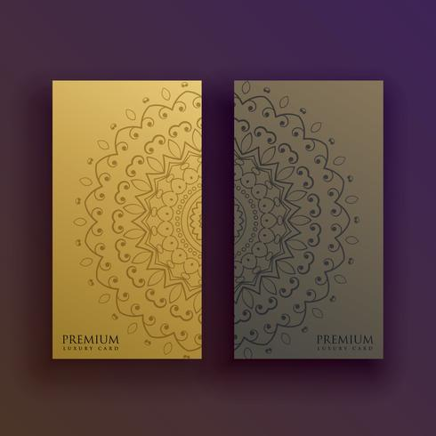premium mandala card decoration design