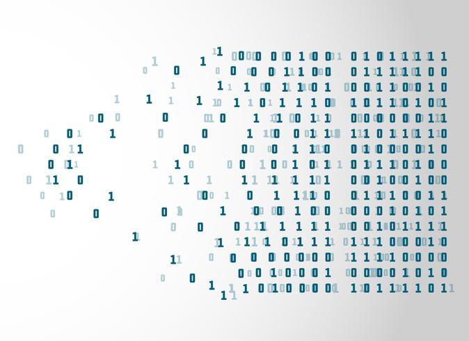 Binärcode-Netzwerktechnologie-Konzepthintergrund