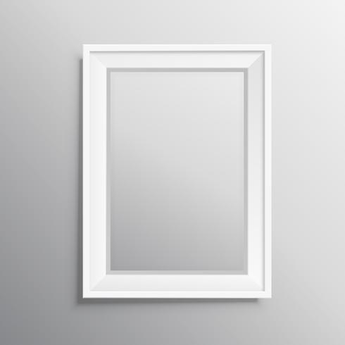 realisitc photo frame mockup display