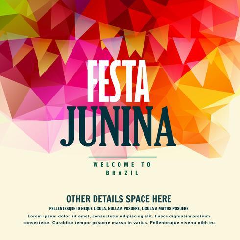 festa junina brazilian june festival colorful background