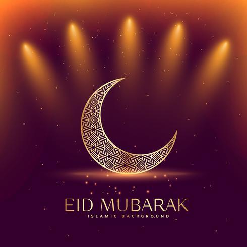 schönes Eid Mubarak Festival mit Halbmond