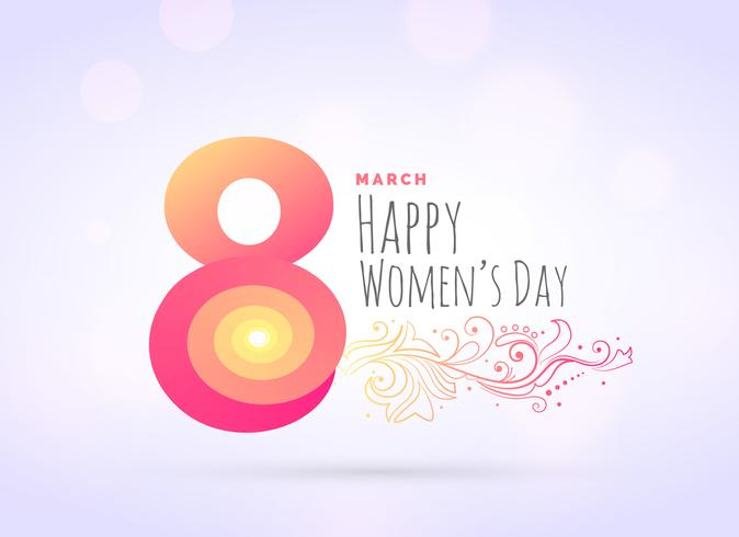 creative woman's day greeting background with floral decoration