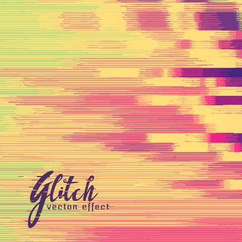 glitch vector effect in retro kleuren