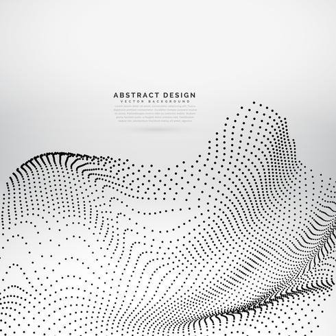 Fondo de vector de onda de partículas impresionantes