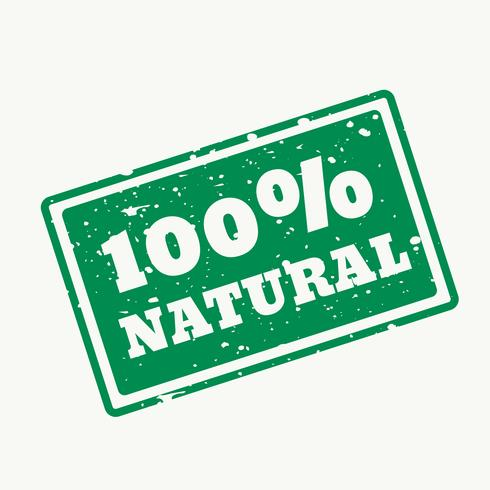 100% natural stamp in vector
