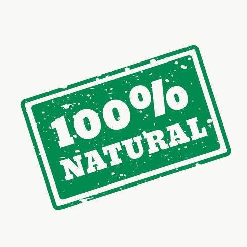 Tampon 100% naturel en vecteur