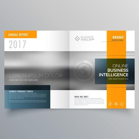 modèle de brochure magazine élégant thème minimal jaune et bleu