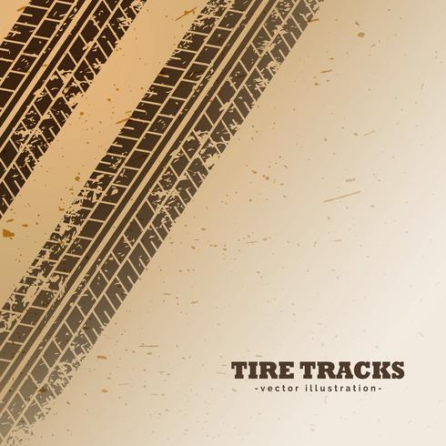 vector tire tracks on mud background