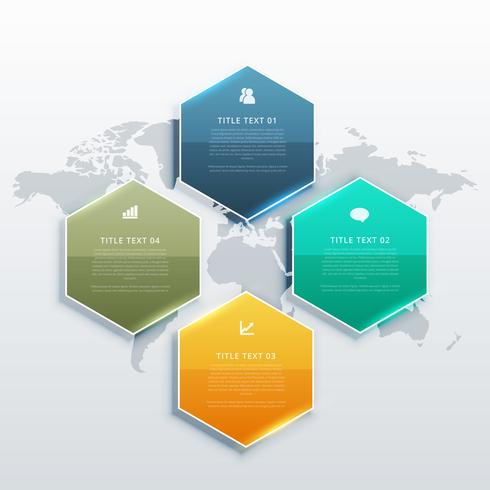 modern four steps infographic design banners for business presen