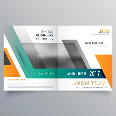 Bi-Fold Broschüre Template Design mit geometrischen Formen