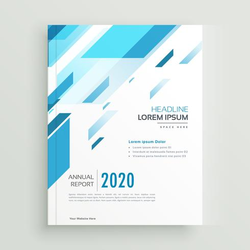 modern business brochure template design in abstract blue shapes